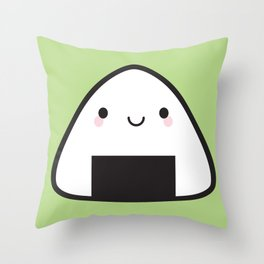 Kawaii Onigiri Rice Ball Throw Pillow