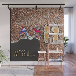 Miss You - Colorful Mosaic Wall Mural