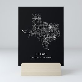 Texas State Road Map Mini Art Print