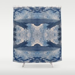 Nordic Blues Shower Curtain