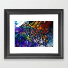 Fire Toad Framed Art Print