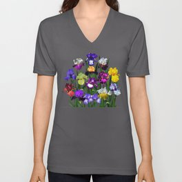 Iris garden Unisex V-Neck