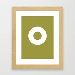 Circle (White Ring) Framed Art Print