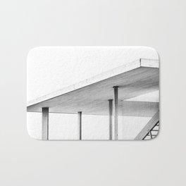 Architectural Study in White Bath Mat