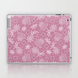 Pink floral lace embroidery Laptop & iPad Skin