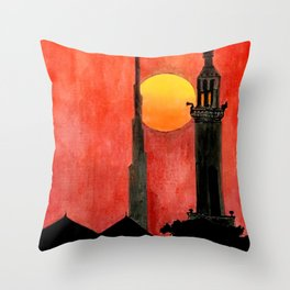 UAE Sunset Throw Pillow