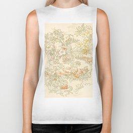 "Alphonse Mucha ""Anemones, Apple Blossoms and Narcissis"" Biker Tank"