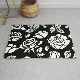 White Rose #illustration #pattern Rug