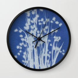 Cyanotype No. 1 Wall Clock