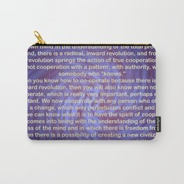 Cooperation - Quote Carry-All Pouch