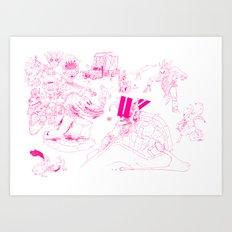 Automatic nib Art Print