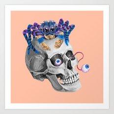 Skull Spider Art Print