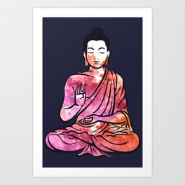 abstract lord Buddha Art Print