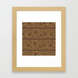 Golden Renaissance Damask Framed Art Print