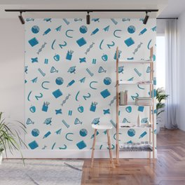 Colorful school pattern Wall Mural