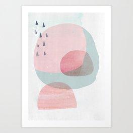 03 no satu Pink_A3_flattened_no_border Society 6 .jpg Art Print