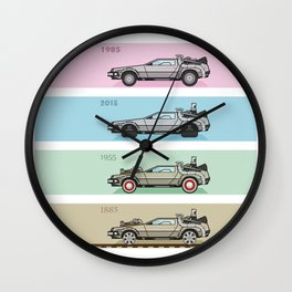 Back to the Future - Delorean x 4 Wall Clock