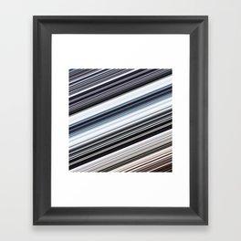 silver stripes Framed Art Print