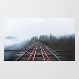 Abandoned Railroad Vance Creek Bridge - Olympic National Park, Washington Rug