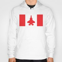 contemporary Hoodies featuring Contemporary Canada by Meg Harder