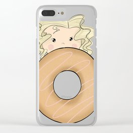 Girl With Donut Clear iPhone Case