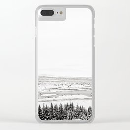 Thingvellir National Park-White Winter Clear iPhone Case