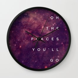 The Places You'll Go I Wall Clock