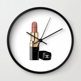 Red Lipstick Coco Print Coco Poster Coco Lipstick Fashion Print Fashionista Gift Women Fashion Art Wall Clock