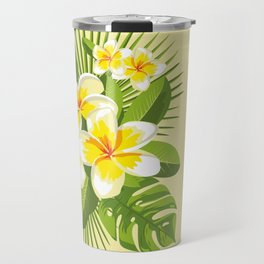 Tropical Bouquet. Plumeria Travel Mug