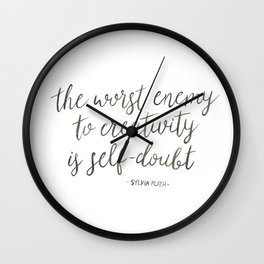 Self-Doubt Wall Clock