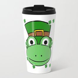 Leprechaun Frog- St. Patricks Day Travel Mug