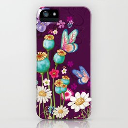 Purple Meadow iPhone Case