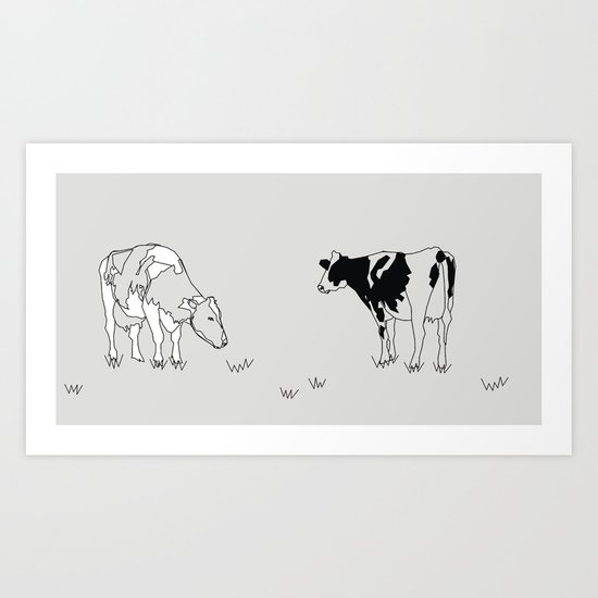 Dairy Cows Art Print