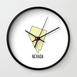 Nevada State Heart Wall Clock