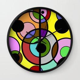 Dark Retro - Geometric, Abstract Pattern Wall Clock