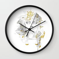 korra Wall Clocks featuring Korra II by lavaniteuse