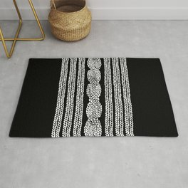 Cable Stripe Black Rug