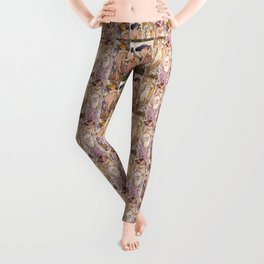 "Alfons Mucha, "" four flowers "" Leggings"