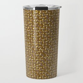 Gold Zigzag Travel Mug
