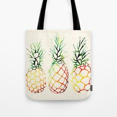 Burlap Pineapples Tote Bag