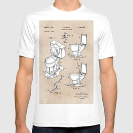 patent art Fields Toilet seat lifter 1967 T-shirt