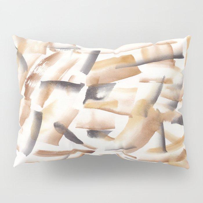 180719 Koh-I-Noor Watercolour Abstract 23| Watercolor Brush Strokes Pillow Sham