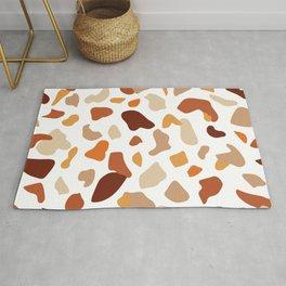Seamless terrazzo earth tone pattern - large Rug
