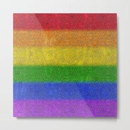 Rainbow Glitter Gradient Metal Print