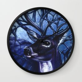 Majestic Deer Wall Clock