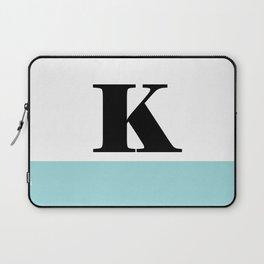 Monogram Letter K-Pantone-Limpet Shell Laptop Sleeve