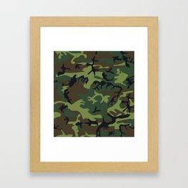 Green Camouflage Framed Art Print