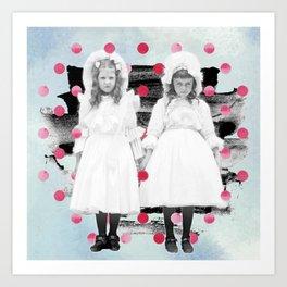 Vintage Photo Collage: Your Love Was Fierce Art Print