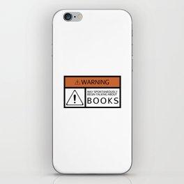 WARNING: Books iPhone Skin