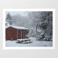 Winter shed Art Print